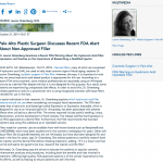 dermal fillers, plastic surgeon in Palo Alto, hyaluronic acid filler, FDA warning, Dr. Lauren Greenberg